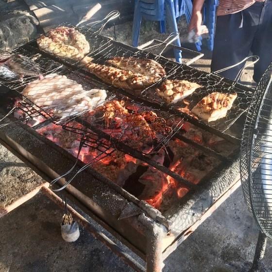 Seafood BBQ on Bingin Beach