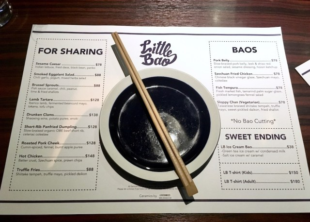 Little Bao Menu, 13 unmissable things to do in Hong Kong, Two Souls One Path