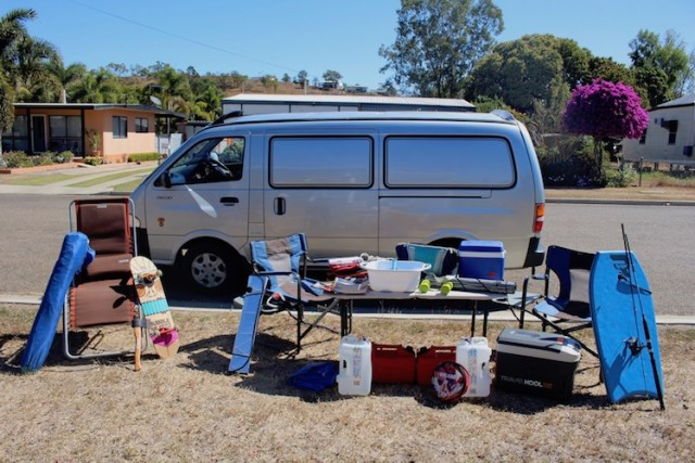 campervan in Australia with lots of equipment