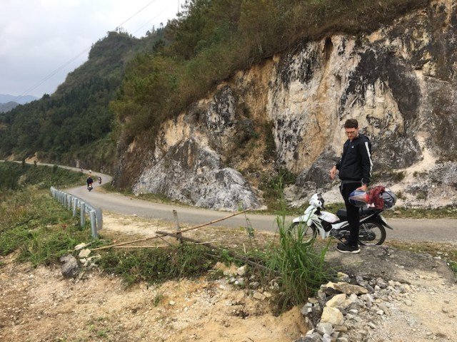 Matt with the Honda blade on the Ha Giang Loop