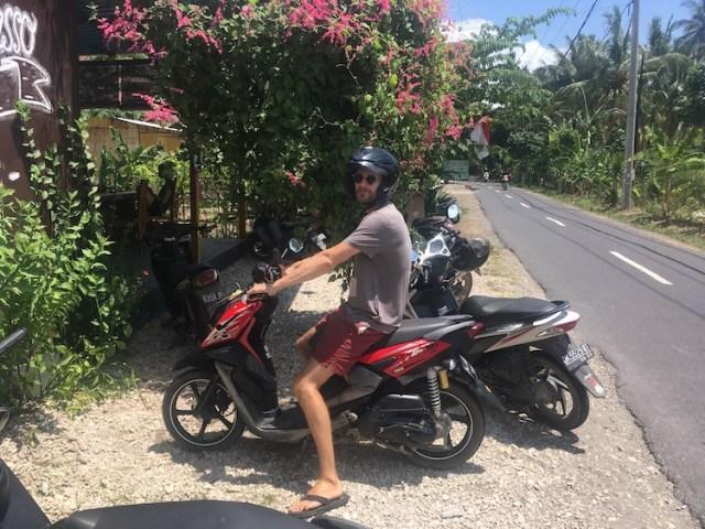 Matt-on-a-scooter