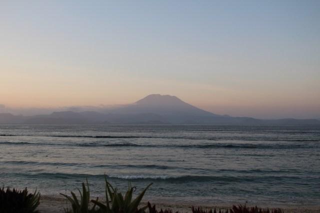 North-Shoreline-Views-of-Mt-Agung from Nusa Penida
