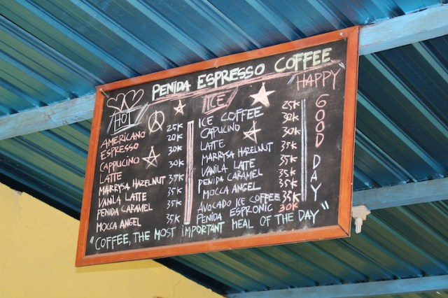 Penida-Espresso-coffee-menu