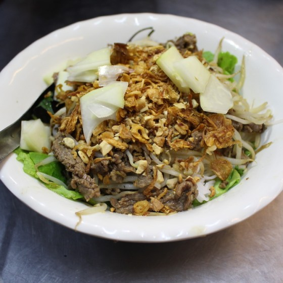 Featured image, Beef Noodle Salad, Bun Bo Nam Bo, best restaurants in Hanoi, Two Souls One Path