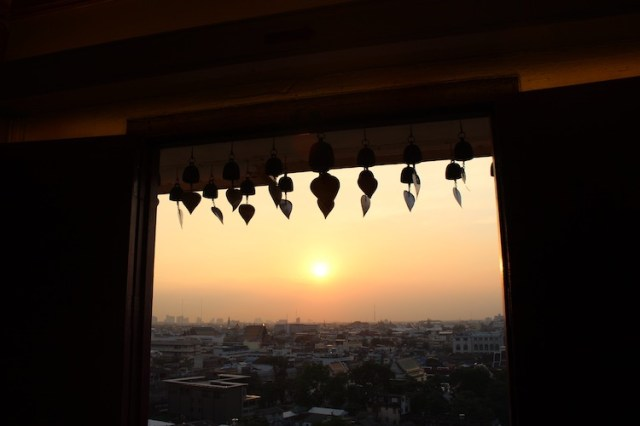 Sunset from Golden mount temple