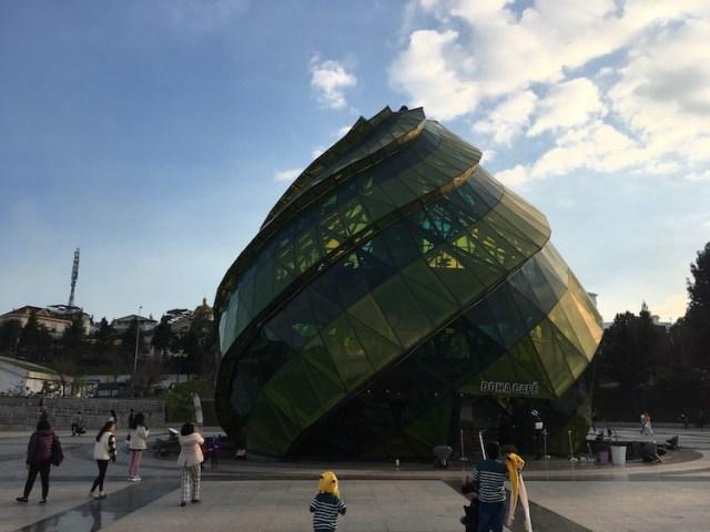 Weird building by lake Dalat Vietnam
