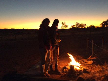 A nice Swedish couple caught our silhouette at Kunjarra