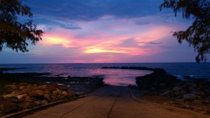 Sunset over Nightcliff boat ramp. Seriously, no filter.