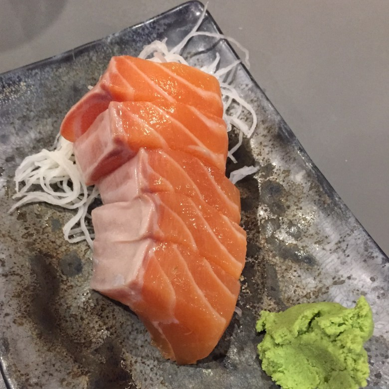 salmon sashimi, koh grill and sushi, koh sushi, twostomachs