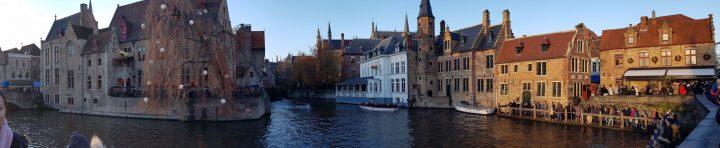 bruges canal, bruges view, bruges sunset
