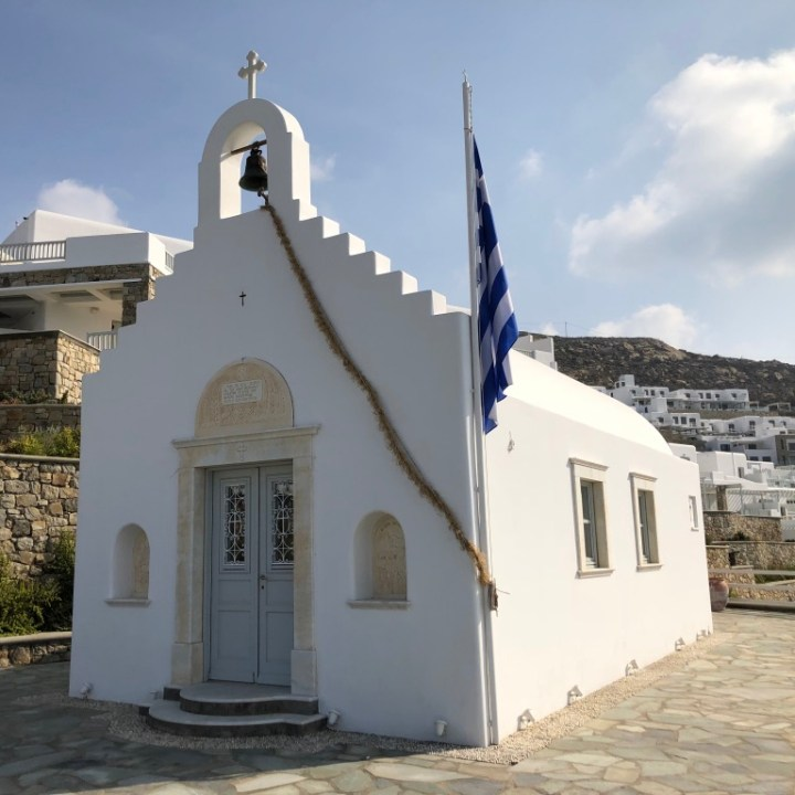 greek chapel, myconian imperial