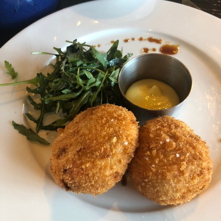 rick stein, fish cake, charity lunch menu, riverside restaurant barnes
