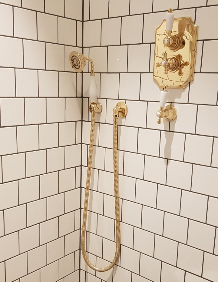 Luxury University Arms Hotel Cambridge Gold Bathroom Shower