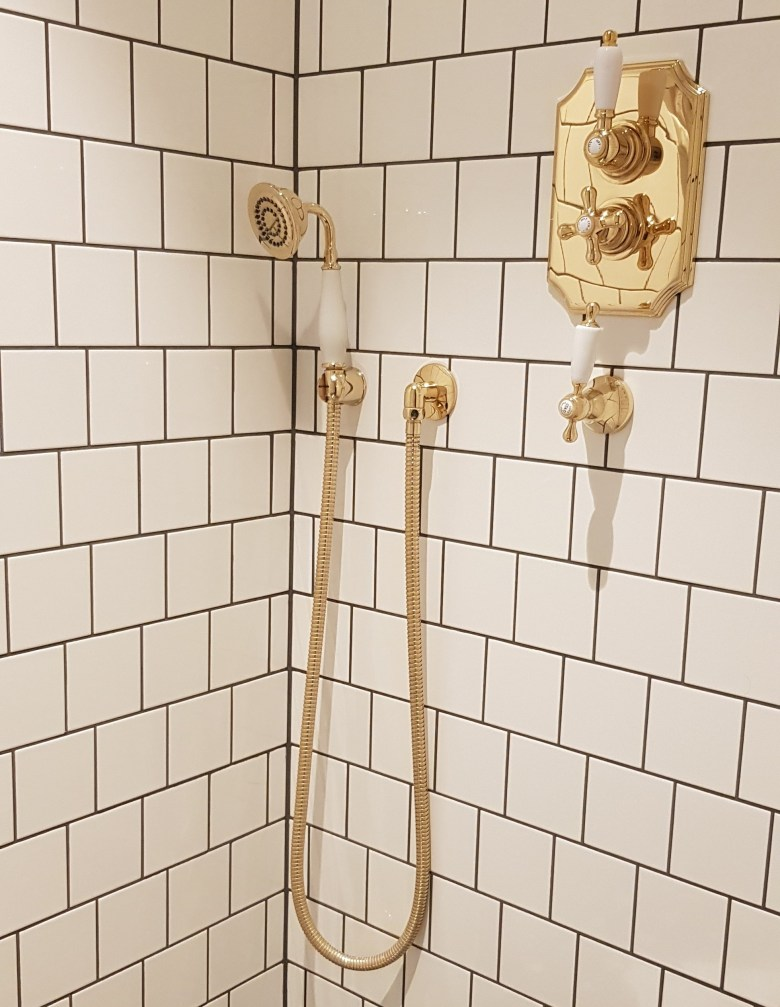 Luxury University Arms Hotel Cambridge Gold Bathroom Shower