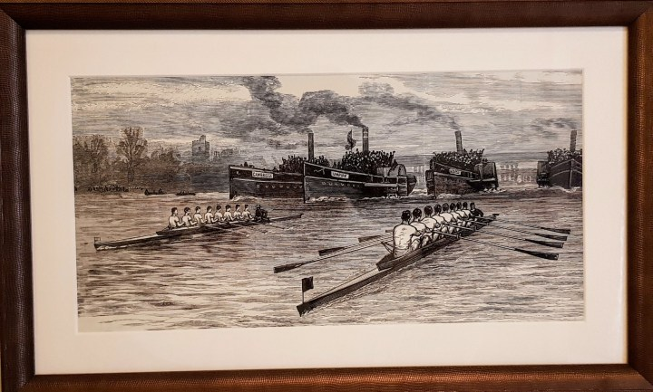 Luxury University Arms Hotel Cambridge Artwork Rower Scull Boat Culture