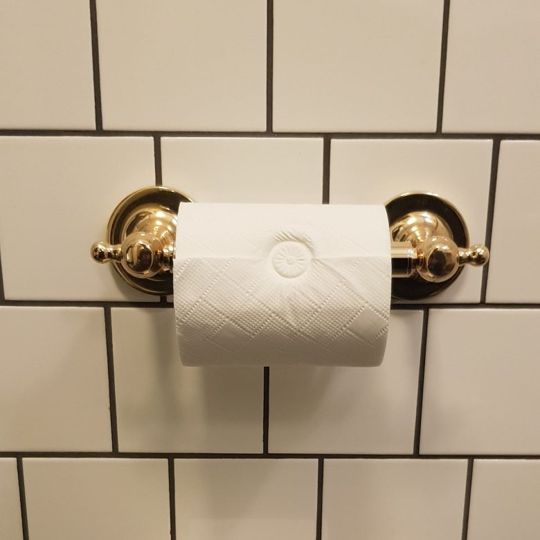 Luxury University Arms Hotel Cambridge Embossed Toilet Roll.