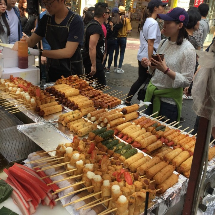 Seoul Itinerary Travel Tips Myeongdong Street Food