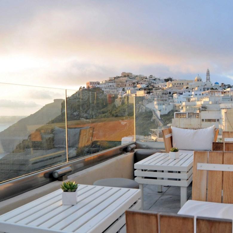 Santorini Holiday Itinerary Travel Tips V Lounge Cafe Cocktail Bar Fira