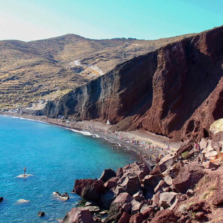 Perfect Holiday Santorini Greece Itinerary Travel Tips Red Beach