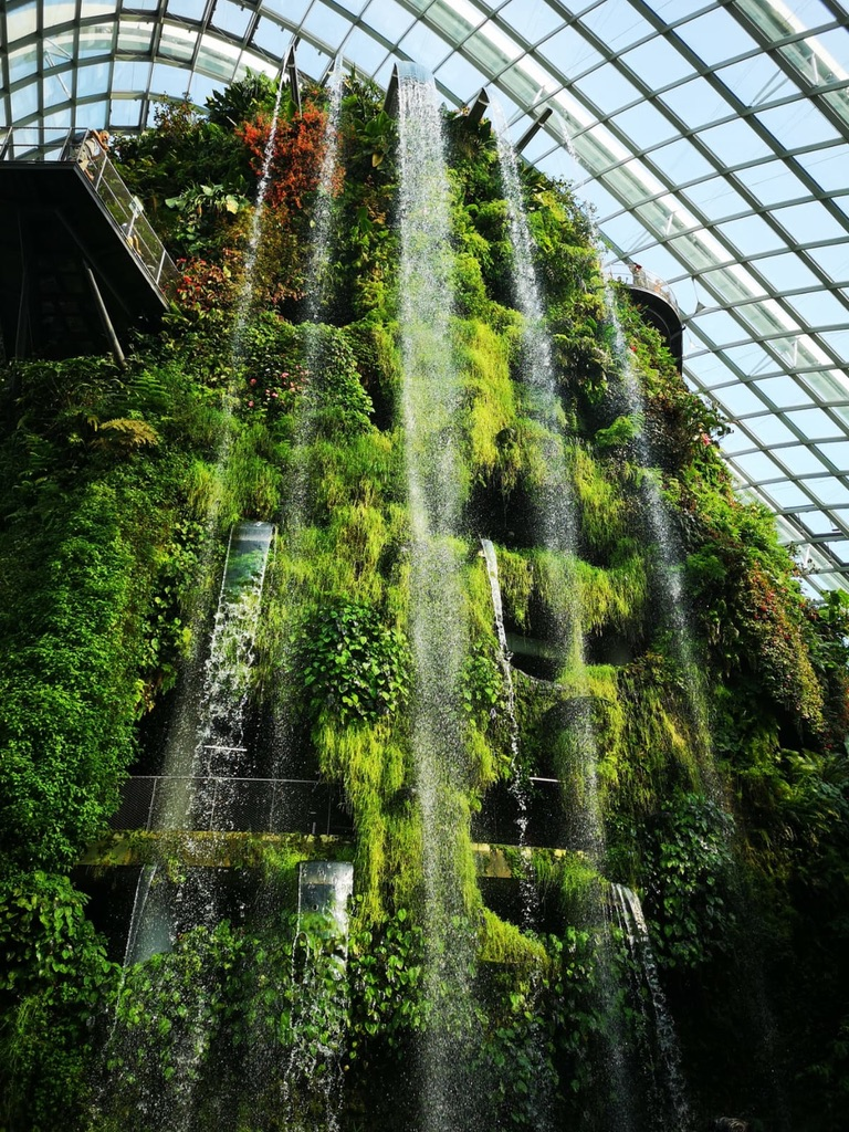 Holiday Singapore Itinerary Travel Tips Gardens by the Bay Cloud Forest Waterfall