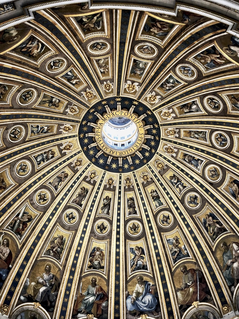 Rome Travel Itinerary Travel Tips Vatican City St Peter Basilica Inside Dome
