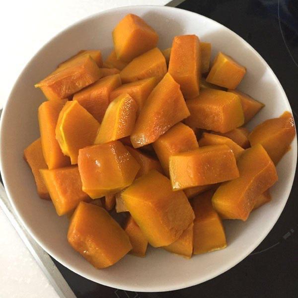 pumpkin, steamed pumpkin
