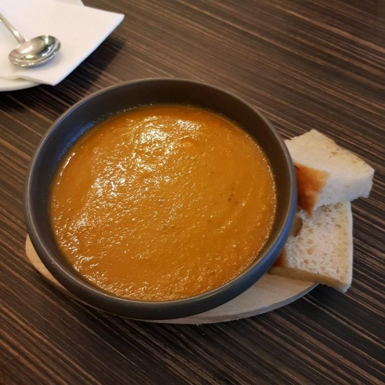 Porto Restaurant Bowness Lake Windermere District Dinner Alfresco Review Tomato Basil Soup Kids Menu