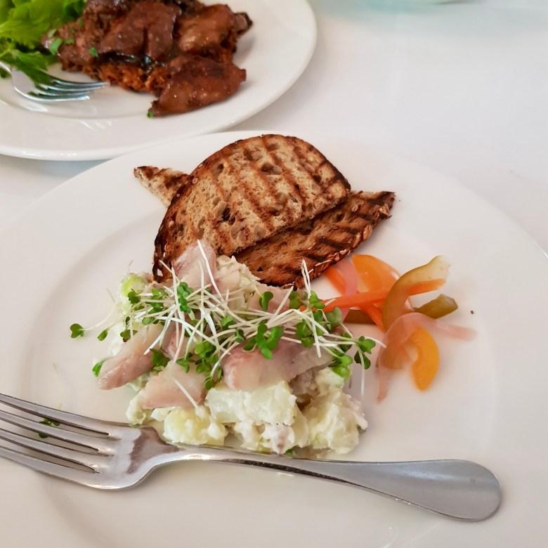 Ognisko Restaurant Classy Polish Dining South Kensington London Traditional Vodka Outdoor Alfresco Garden View Smoked Eel