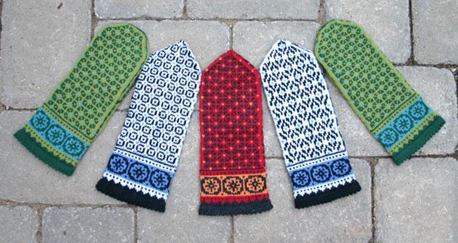 Postwar Mittens on Winter 2008 Twist Collective