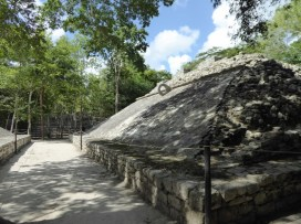 The ball court at Coba