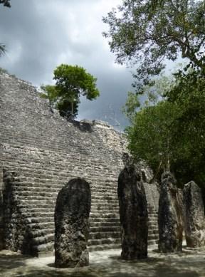 More large stelae at Calakmul