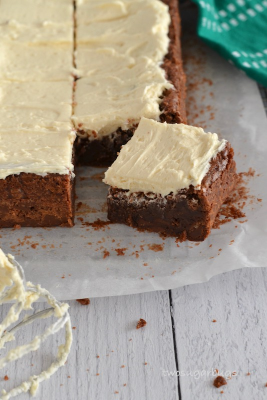 Fudgy Irish Cream Brownies