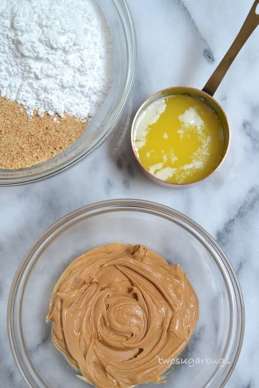 Ingredients for peanut butter bars