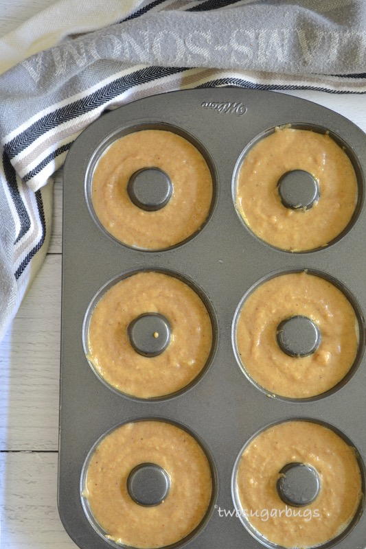 Batter in donut pan