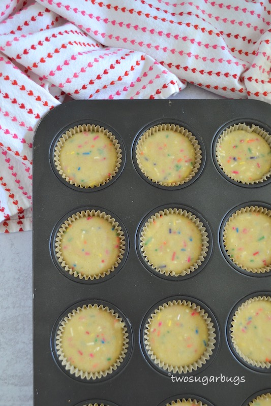 Cupcake batter in liners