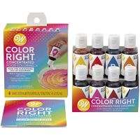 Wilton Color Right Performance Food Coloring Set, Achieve Consistent Colors for Icing, Fondant and Cake Batter, 8-Base Colors