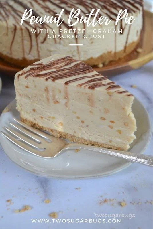Pinterest graphic for peanut butter pie