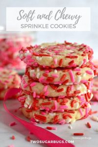 Pinterest graphic for sprinkle cookies