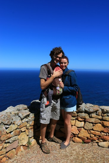 The family at the lighthouse on Cape Point.