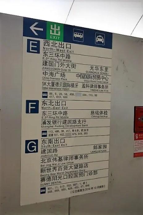Subway Signs in Beijing CBD