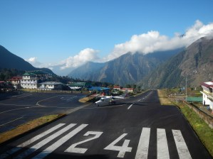 The airstrip at Lukla