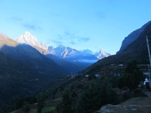 We've walked so far we can finally see the Himalayas!