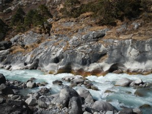 The river on the way to Namche