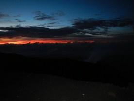 First light on top of Semeru