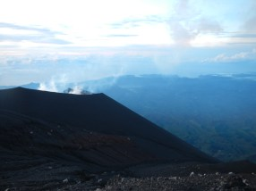 Mount Semeru with Java's coastline in the distance