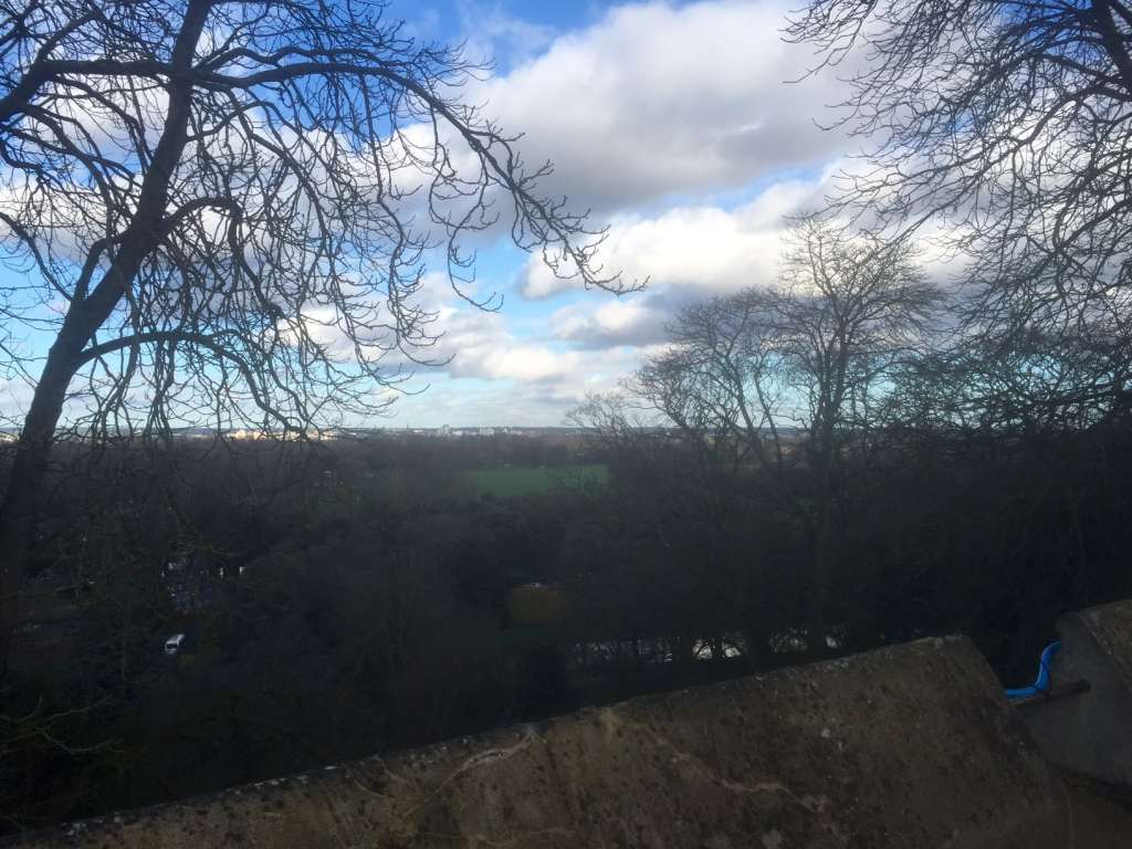 Beautiful view of the countryside from Windsor Castle.