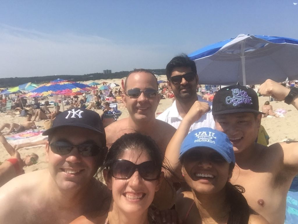 Selfie! Our crew had a great time at Sandy Hook!