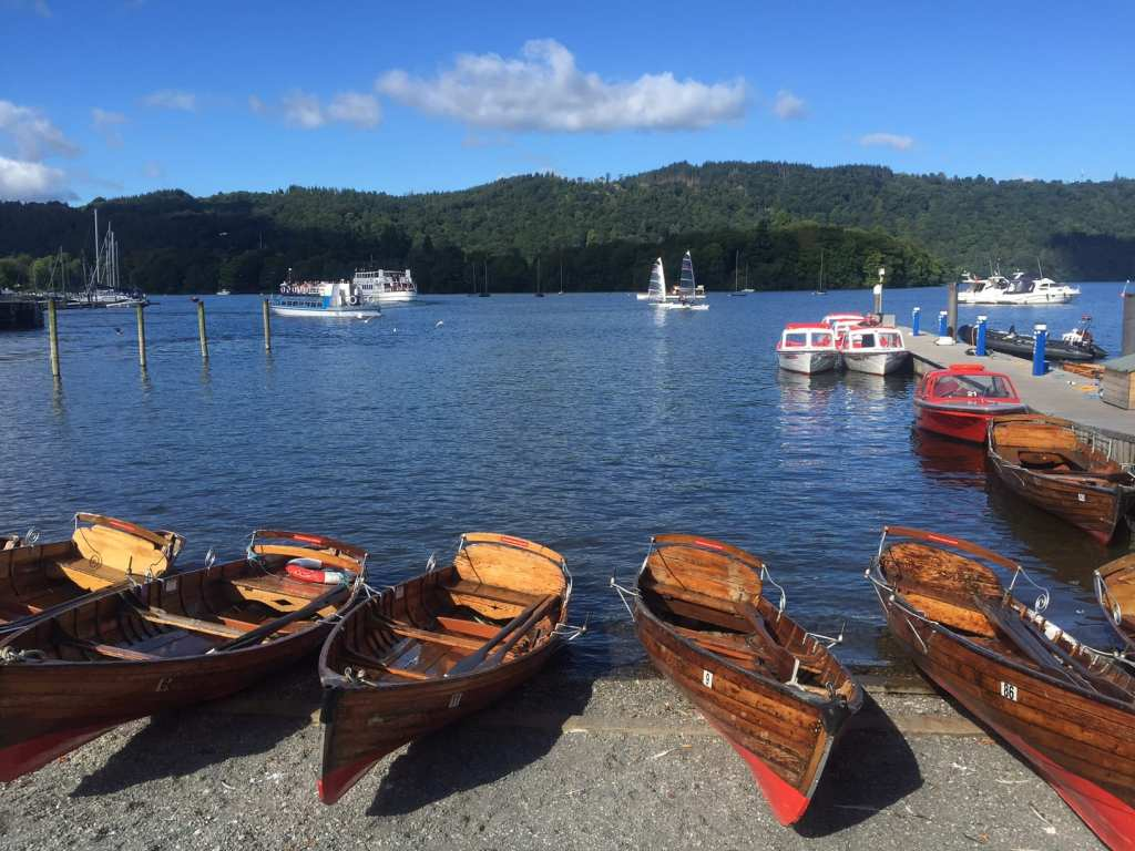 """The shores of Lake Windermere by the pier in Bowness. - """"An Introduction to England's Lake District"""" - Two Traveling Texans"""