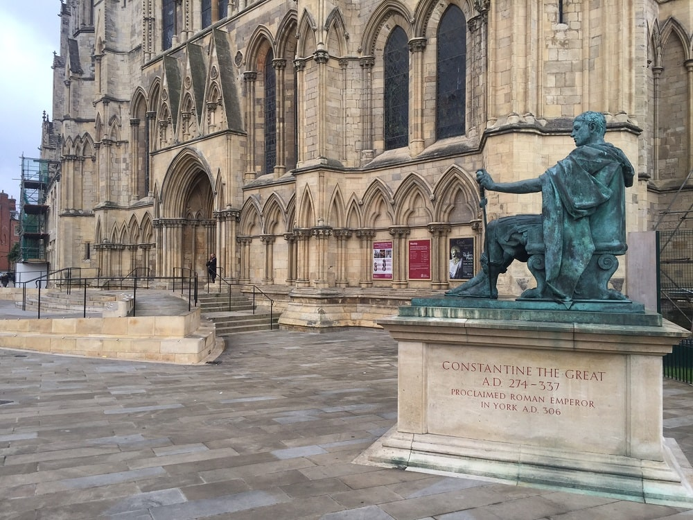 "The statue of Constantine the Great marking the spot he was proclaimed emperor. - ""York: Five Must See Historic Sites"" - Two Traveling Texans"