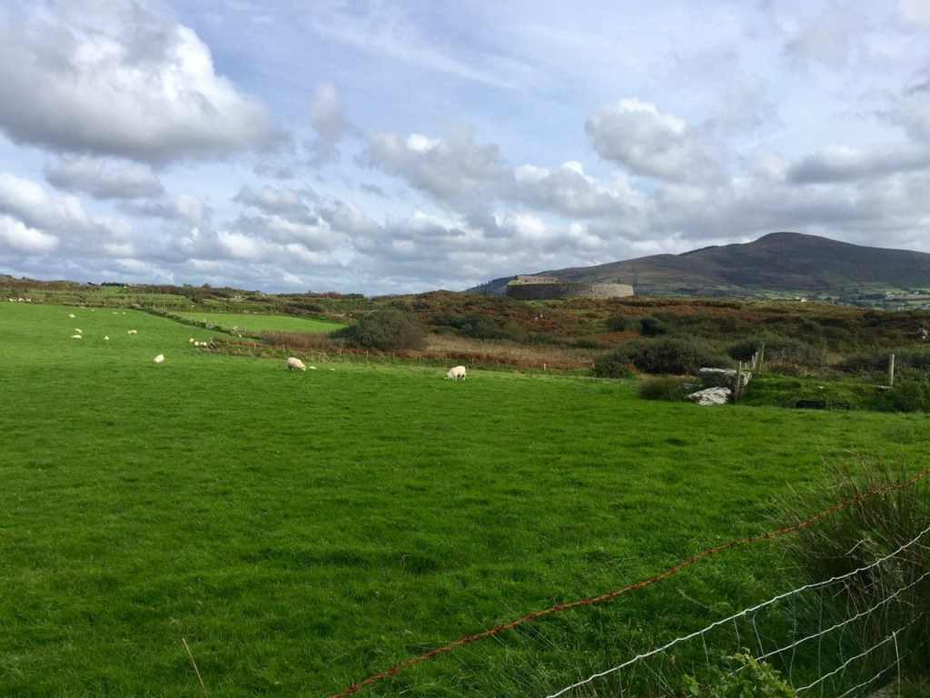 """Can you spot the stone fort? It really blends into the scenery. - """"Why You Must Do the Ring of Kerry at Least Once in Your Lifetime"""" - Two Traveling Texans"""
